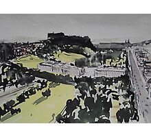 Edinburgh Castle and Princes Street Photographic Print