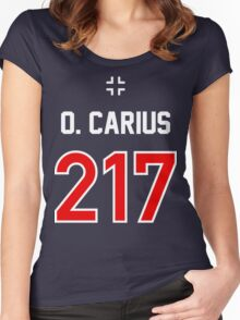 Panzer Aces - Otto Carius Women's Fitted Scoop T-Shirt