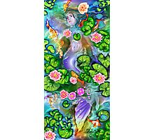 Mermaid in the lily pond Photographic Print