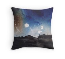 Edinburgh Festival Fireworks Throw Pillow