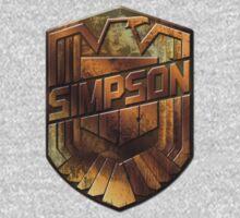 Custom Dredd Badge Pocket Shirt - (Simpson) Kids Clothes