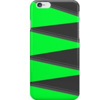 Green triangles and dots iPhone Case/Skin