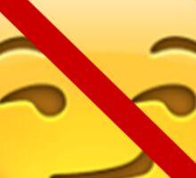 No Smirking Sticker