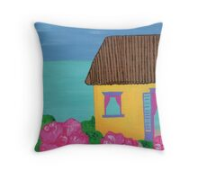 Island Home by the Sea Throw Pillow