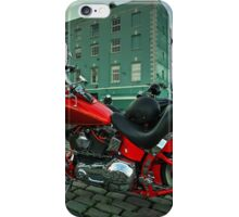 Red Harley  iPhone Case/Skin
