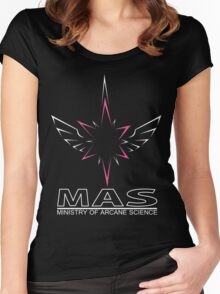 MAS Shirt (Full Wireframe +Text) Women's Fitted Scoop T-Shirt