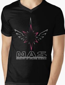 MAS Shirt (Full Wireframe +Text) Mens V-Neck T-Shirt