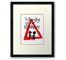 The Boney Kings of Nowhere Red Triangle Framed Print