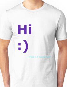Hi :) (Blue) Unisex T-Shirt