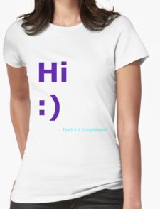 Hi :) (Blue) Womens Fitted T-Shirt