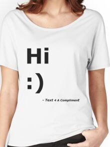 Hi :) (Black) Women's Relaxed Fit T-Shirt