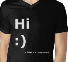 Hi :) (White) Mens V-Neck T-Shirt