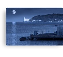 Full Moon Over Miramare Castle Canvas Print