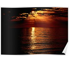 Sunset over Sanibel Island in Florida Poster