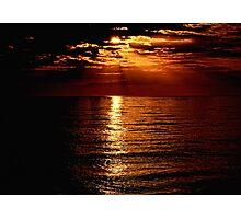 Sunset over Sanibel Island in Florida Photographic Print