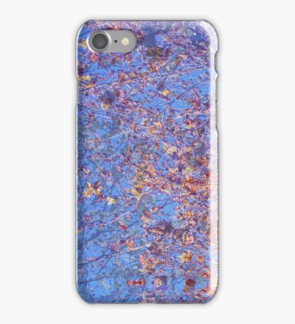 Tree leaves & blue sky - abstract iPhone Case/Skin