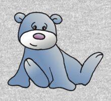 Blue Teddy bear One Piece - Long Sleeve