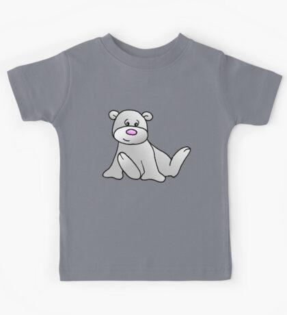White Teddy Bear Kids Tee