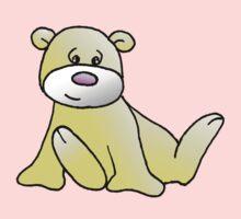 Yellow Teddy Bear One Piece - Long Sleeve