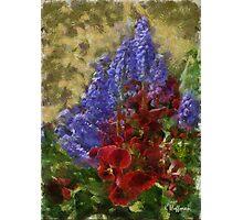 Spring Friends ala Monet Photographic Print