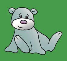 Turquoise Teddy Bear Kids Tee