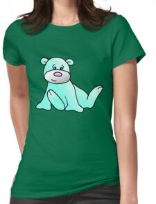 Turquoise Teddy Bear Womens Fitted T-Shirt