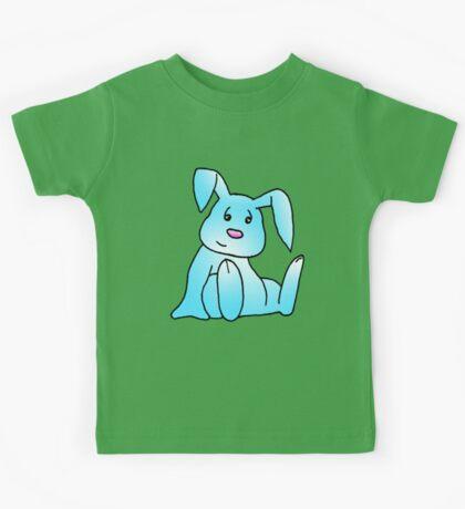Turquoise Bunny Rabbit Kids Tee