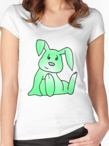 Green Bunny Rabbit Women's Fitted Scoop T-Shirt