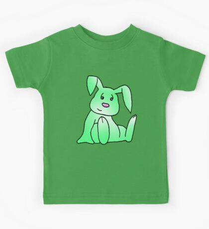 Green Bunny Rabbit Kids Tee