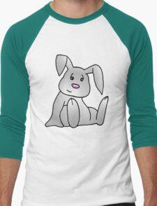 White Bunny Rabbit Men's Baseball ¾ T-Shirt