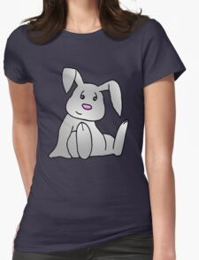 White Bunny Rabbit Womens Fitted T-Shirt