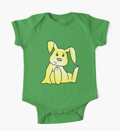 Yellow Bunny Rabbit One Piece - Short Sleeve