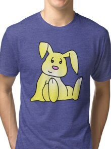 Yellow Bunny Rabbit Tri-blend T-Shirt