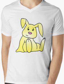 Yellow Bunny Rabbit Mens V-Neck T-Shirt