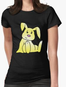 Yellow Bunny Rabbit Womens Fitted T-Shirt