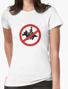 No Dinosaurs Womens Fitted T-Shirt