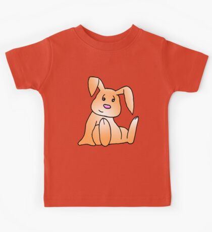 Orange Bunny Rabbit Kids Tee