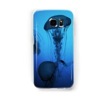 Portrait of a Jellyfish- Blue Samsung Galaxy Case/Skin