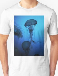 Portrait of a Jellyfish- Blue Unisex T-Shirt