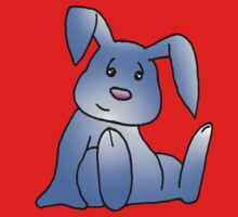 Blue Bunny Rabbit One Piece - Short Sleeve