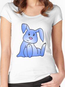 Blue Bunny Rabbit Women's Fitted Scoop T-Shirt