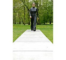 A walk in the park (Walking Woman by Sean Henry) Photographic Print