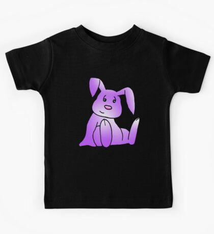 Magenta Bunny Rabbit Kids Tee