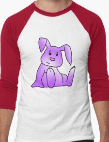 Magenta Bunny Rabbit Men's Baseball ¾ T-Shirt