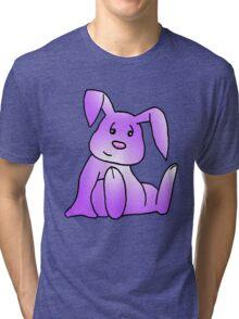 Magenta Bunny Rabbit Tri-blend T-Shirt