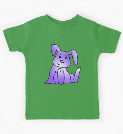 Purple Bunny Rabbit Kids Tee