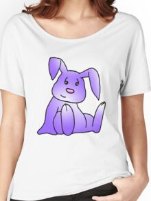 Purple Bunny Rabbit Women's Relaxed Fit T-Shirt