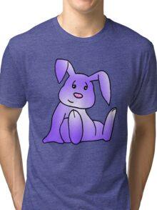 Purple Bunny Rabbit Tri-blend T-Shirt