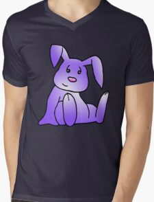 Purple Bunny Rabbit Mens V-Neck T-Shirt
