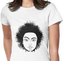 Ssst, silence please! Womens Fitted T-Shirt